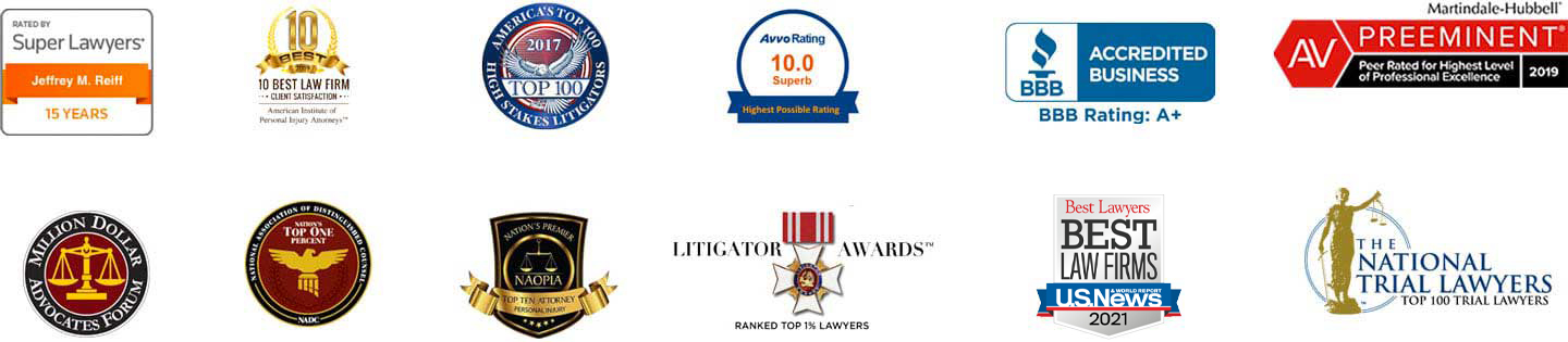 Reiff Law Firm awards and accomplishments